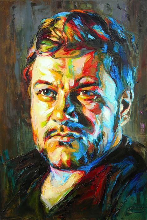 colorful portraits jk15 0804 merunas paintings