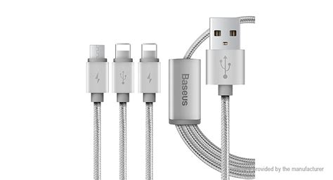 Baseus Portman Series 3 In 1 Micro Usb Lightning Type C 12m 6 26 baseus portman series 3 in 1 usb braided data sync charging cable 120cm authentic