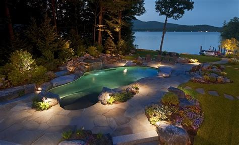 Pool Landscape Lighting Lighting Gilford Nh Photo Gallery Landscaping Network