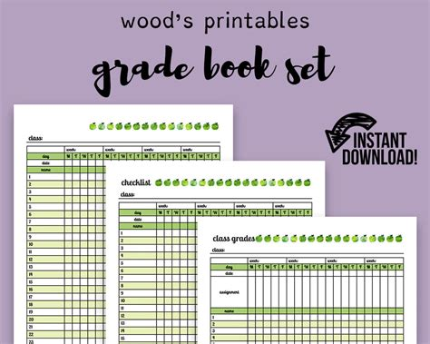printable teacher planner pdf grade book pdf planner teaching planner teacher