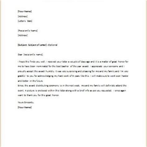 Acceptance Letter For Teaching Formal Official And Professional Letter Templates Part 6