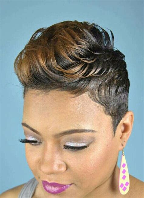 Hairstyles For Relaxed Hair Black by 705 Best Pixie Cuts And Hairstyles Images On