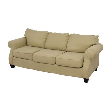 Arm Sofas by 53 Beige Three Cushion Curved Arm Sofa Sofas