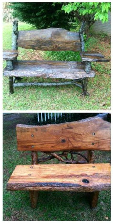 bench cut lumber mill diy bench and benches on pinterest