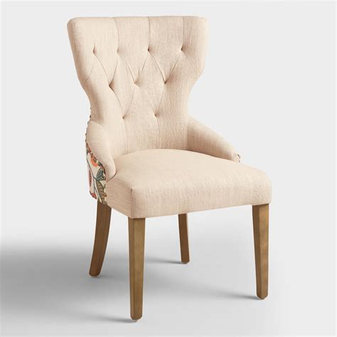 linen chair timeless grace floral and linen maxine dining