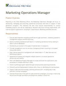 Advertising Manager Description by Marketing Operations Manager Description