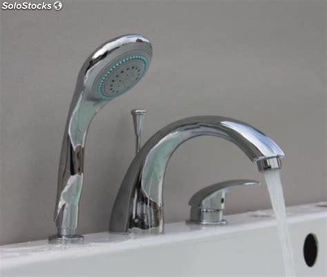 mitigeur baignoire thermostatique 3 trous avec inverseur or
