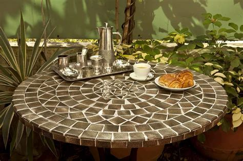 table patio ronde mesa redonda de mosaico 60cm