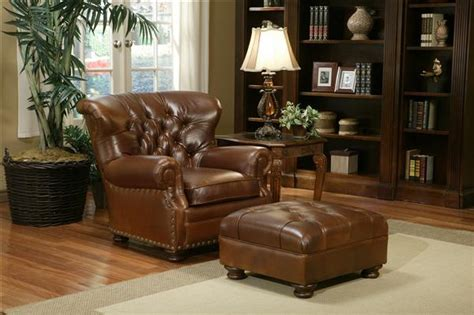 leather armchair and ottoman image gallery leather chairs and ottomans
