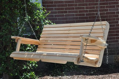 outside porch swings 4 ft cypress porch swing wood wooden outdoor furniture