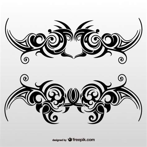 tribal tattoo art set vector free download