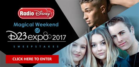 Radio Disney Sweepstakes 2017 - radio disney win a magical weekend at d23 expo 2017