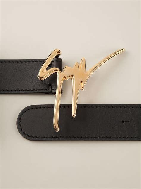 Louis Navy By Rhavi Store giuseppe zanotti signature belt in black for lyst