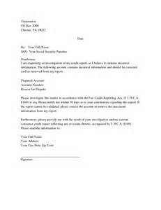 Credit Report Dispute Letter Transunion Best Photos Of Exle Of Letter Report Report Cover Letter Sle Letter Report Format