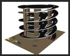 parking garage ramp design new paper model dual twister ramp parking garage free