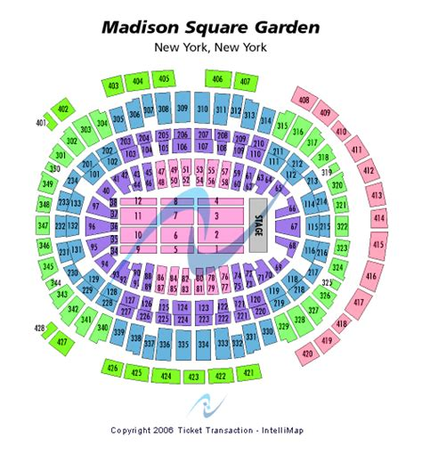 Square Garden Seating Map by Cheap Square Garden Tickets