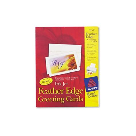 avery 3251 feather edge greeting cards template avery personal creations ink jet feather edge greeting
