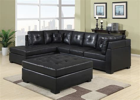 leather sectionals chicago darie black leather sectional marjen of chicago