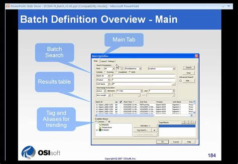 osisoft details of the pi processbook batch trend configuration v3 1 2