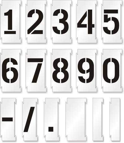 Free Floor Stencils by Number Stencil Kit 0 9 Lock N Spray Interlocking Sku