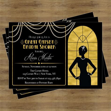 best 25 great gatsby invitation ideas on pinterest