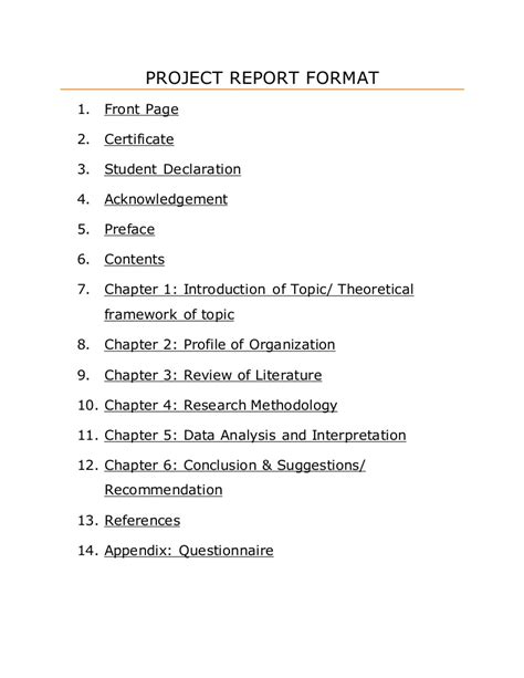 research project report research project report template templates station