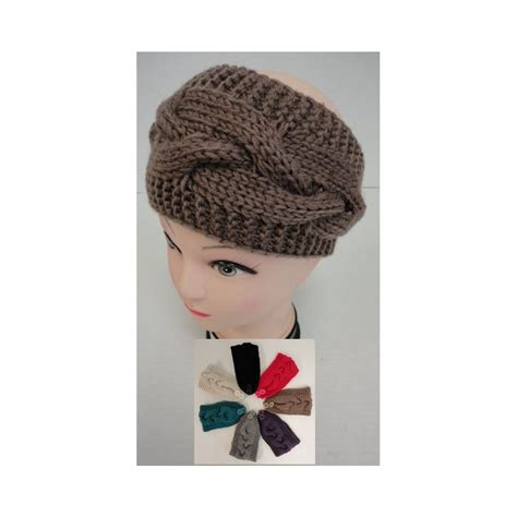 knit ear band 12 units of knitted ear band cable knit loop at