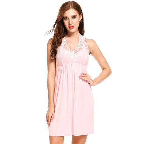 Dress Agnes Hoodie Lm ekouaer nightwear sleeveless nightdress patchwork v neck nightgowns sleepshirts