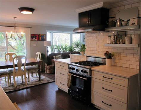 Low Ceiling Kitchen Cabinets Joyce S Black White Kitchen Hooked On Houses