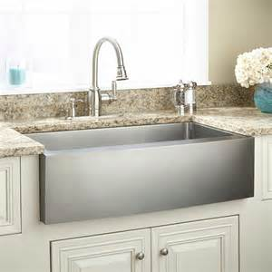 Stainless Steel Farmhouse Kitchen Sink 33 Quot Optimum Stainless Steel Farmhouse Sink Curved Apron