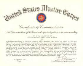 Certificate Of Commendation Usmc Template by File Commandant Of The Marine Corps Certificate Of