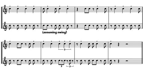 swing notation jazz notation the default debreved tim davies website
