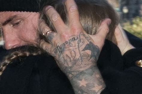 beckham family tattoo david beckham shows off mystery tattoo on his wedding ring