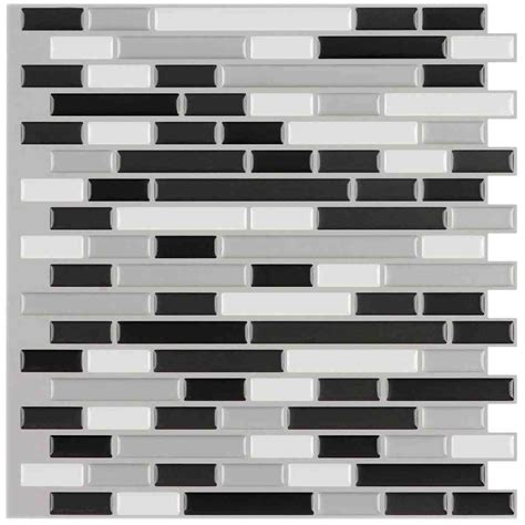 best peel and stick tile stick tile idea peel and stick metal sheets black white