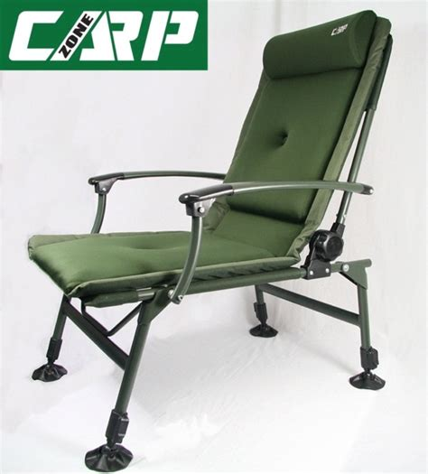 reclining fishing chair carp zone carp fishing reclining chair with arm rests