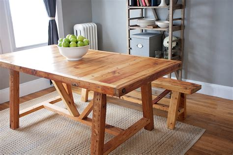 reclaimed wood dining table and bench reclaimed wood farmhouse dining table and bench by