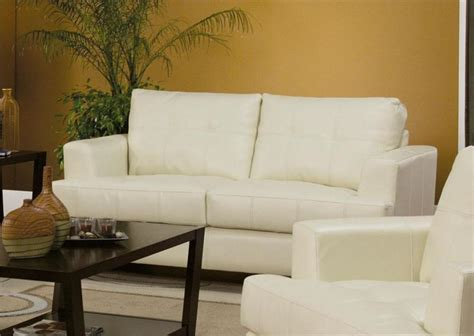 cream leather sofa and loveseat cream leather sofa set samuel collection item 501691