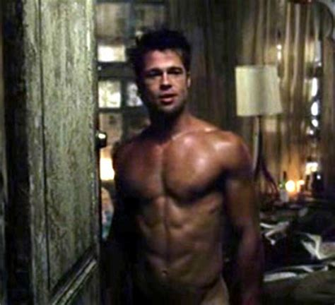 Latest hollywood hottest wallpapers brad pitt abs fight club