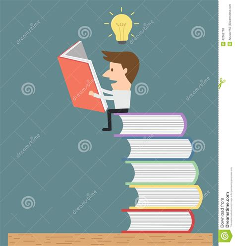 picture books for idea and details reading on stack of books to get idea and knowledge
