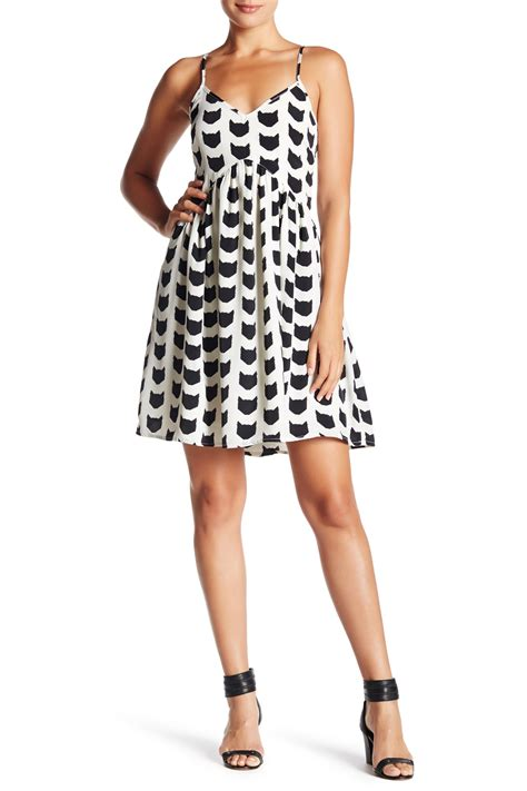 Oat And Fawn Animal Print Blouse by Oat Fawn Two Tone Printed Shift Dress Nordstrom Rack