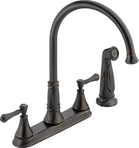 delta kitchen faucet warranty faucet 2497lf cz in chagne bronze by delta