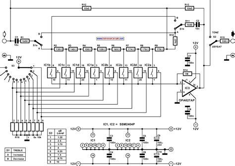 bass treble circuit diagram bass treble circuit schematic efcaviation
