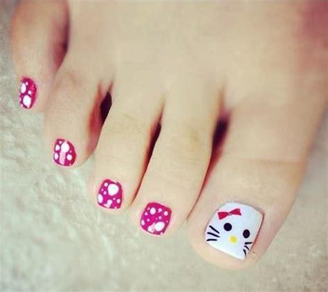 imagenes de uñas pintadas de los pies con dibujos modelo de u 241 as pintadas para los pies imagui