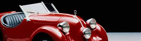 classic red mercedes cars