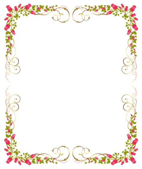Wedding Border Frame Design by Corner Roses Wedding Border Design 2014 Sadiakomal