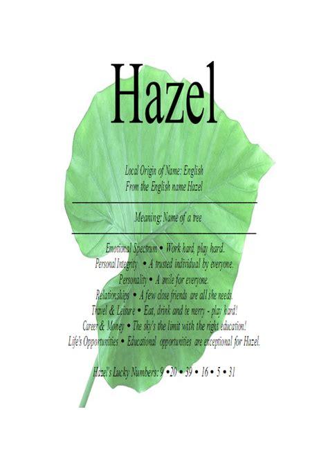meaning of tree hazel name means hazel tree