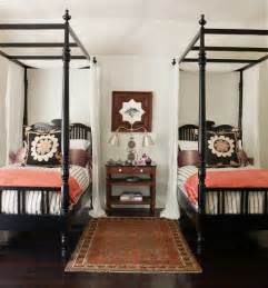 Iron Four Poster Bed guest bedroom inspiration 20 amazing twin bed rooms