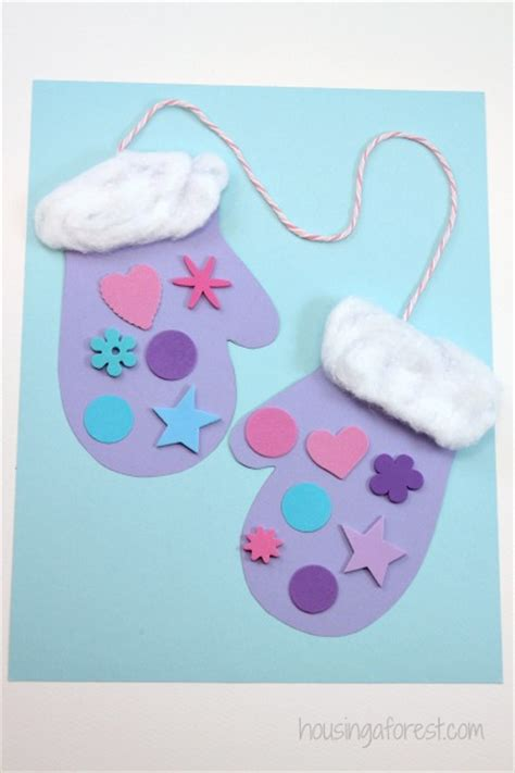 winter and craft for winter mitten craft for preschoolers housing a forest