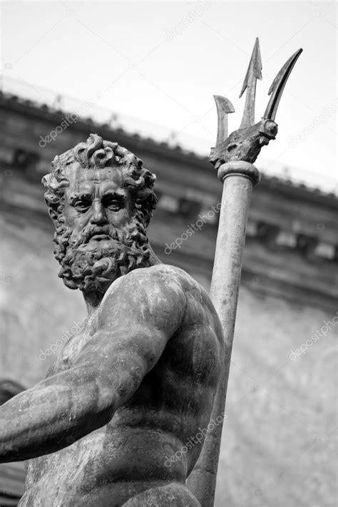 neptune's portrait - bologna - black and white — Stock