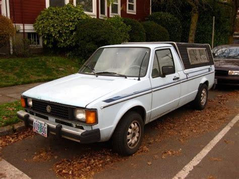 volkswagen rabbit truck 1982 parked cars 1982 volkswagen rabbit diesel